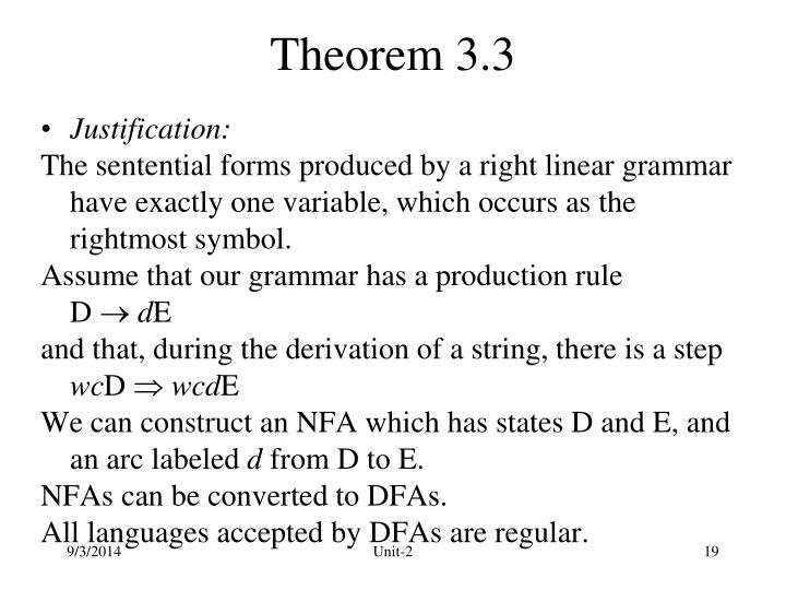 Theorem 3.3