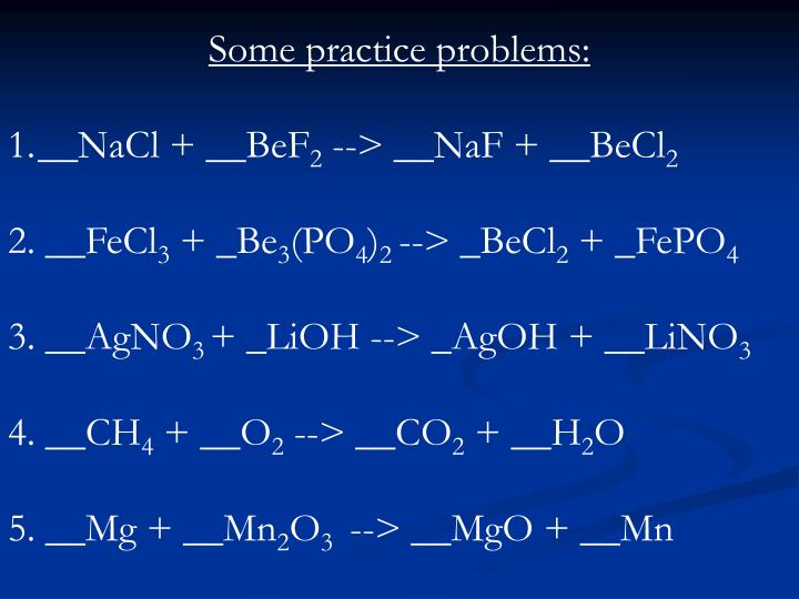 Some practice problems: