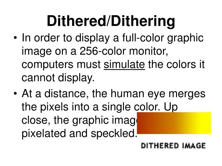 Dithered/Dithering