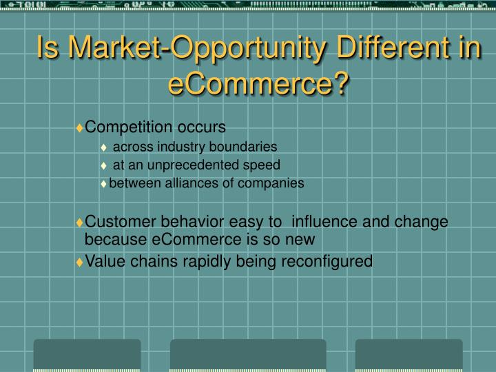Is Market-Opportunity Different in eCommerce?