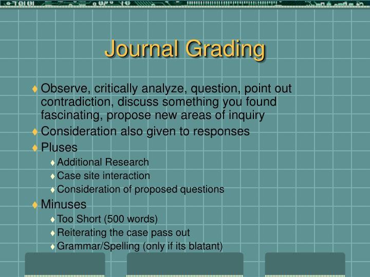 Journal Grading