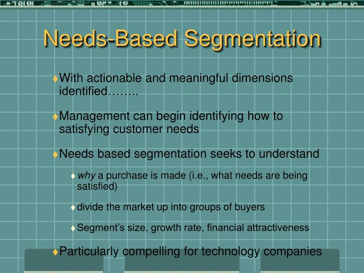 Needs-Based Segmentation