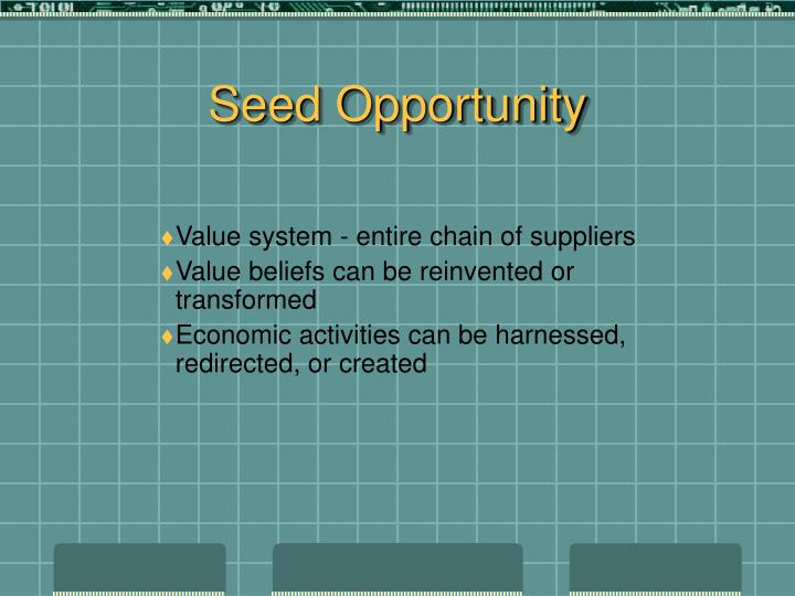 Seed Opportunity