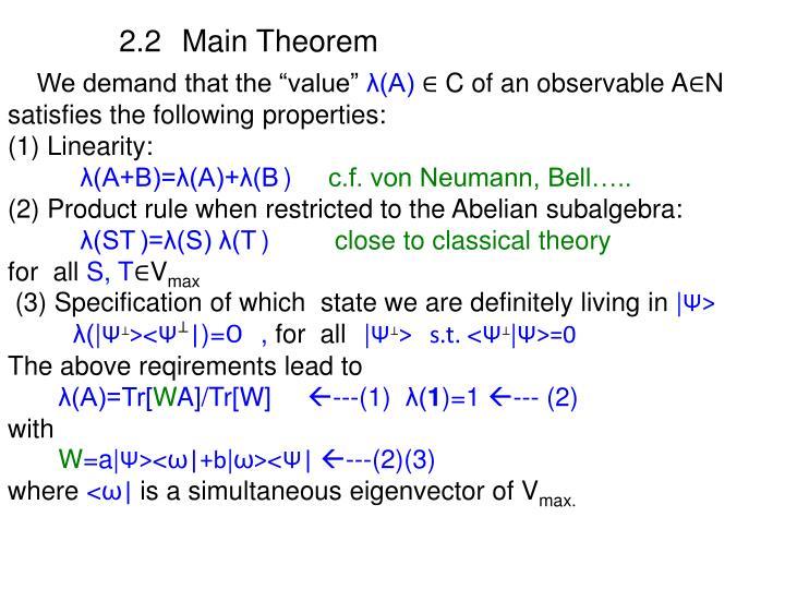 2.2 Main Theorem