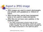 export a jpeg image