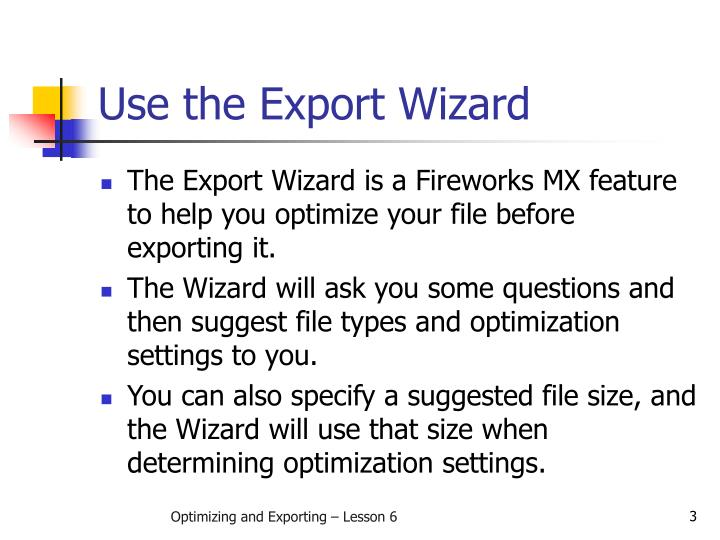 Use the Export Wizard