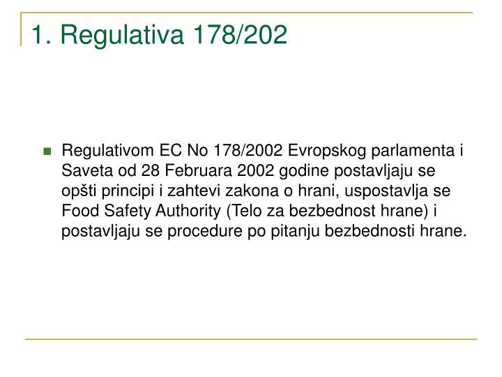 1. Regulativa 178/202