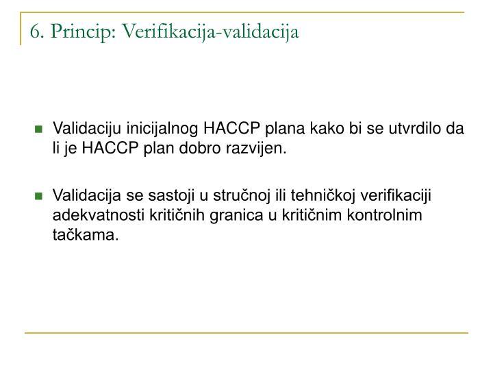 6. Princip: Verifikacija-validacija