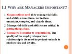 1 1 why are managers important