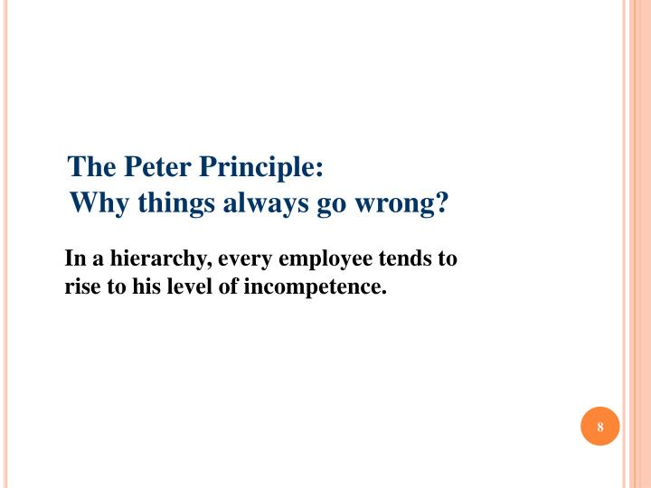 The Peter Principle:
