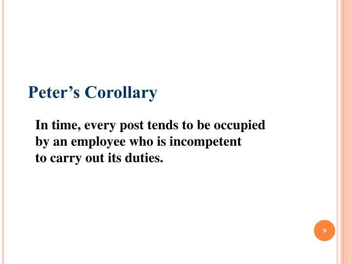 Peter's Corollary