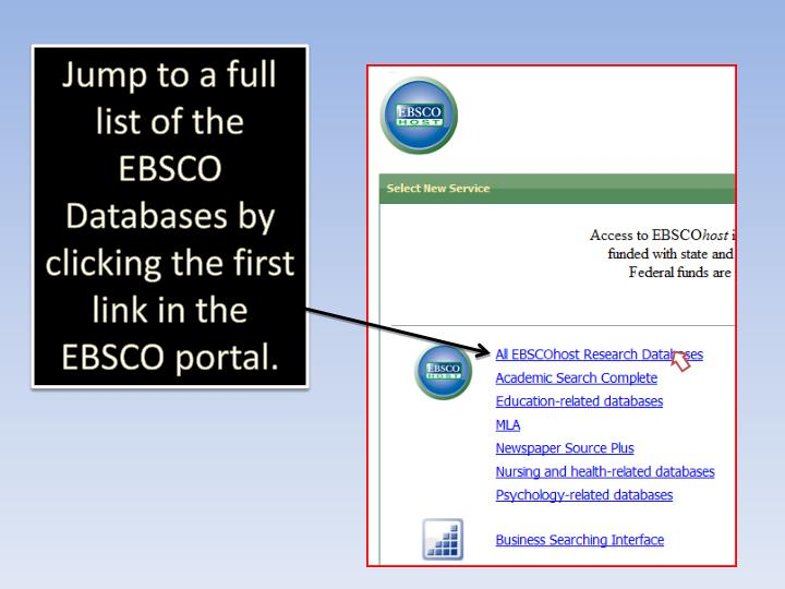 The EBSCO Portal