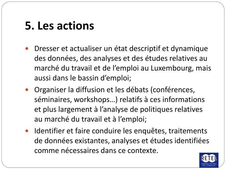 5. Les actions