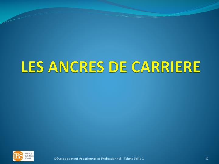 LES ANCRES DE CARRIERE