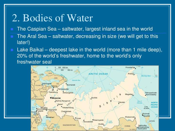 2. Bodies of Water