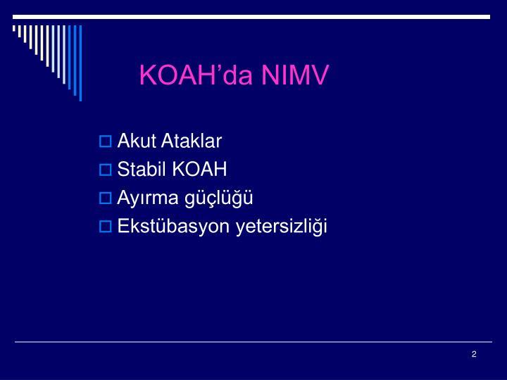 KOAH'da NIMV