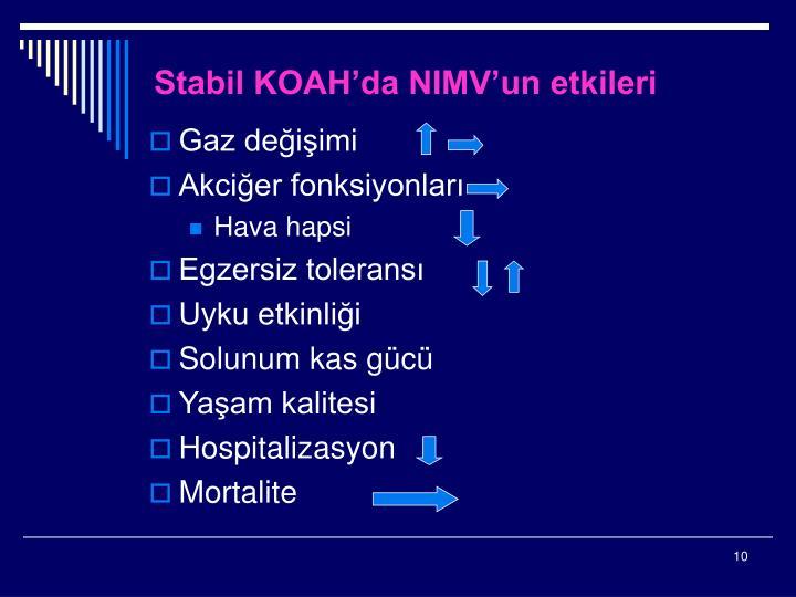 Stabil KOAH'da NIMV'un etkileri