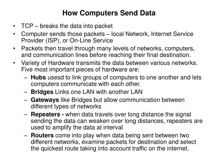 How Computers Send Data