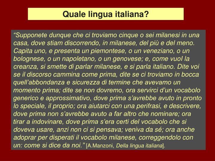 Quale lingua italiana?