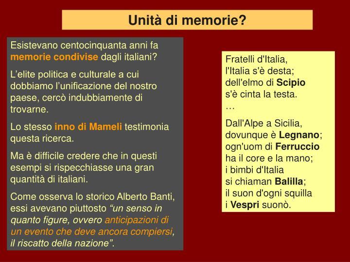 Unità di memorie?