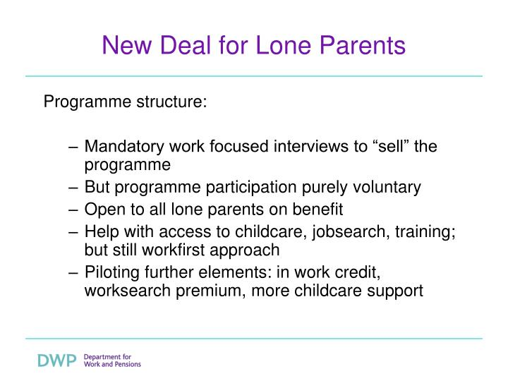 New Deal for Lone Parents
