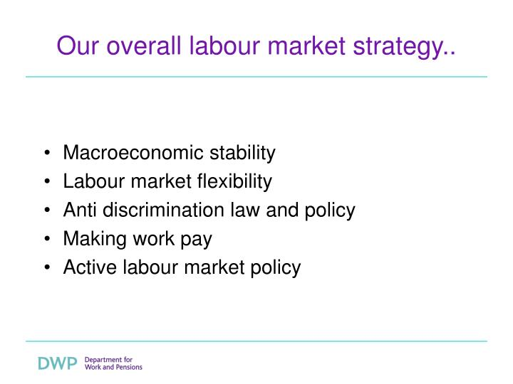 Our overall labour market strategy