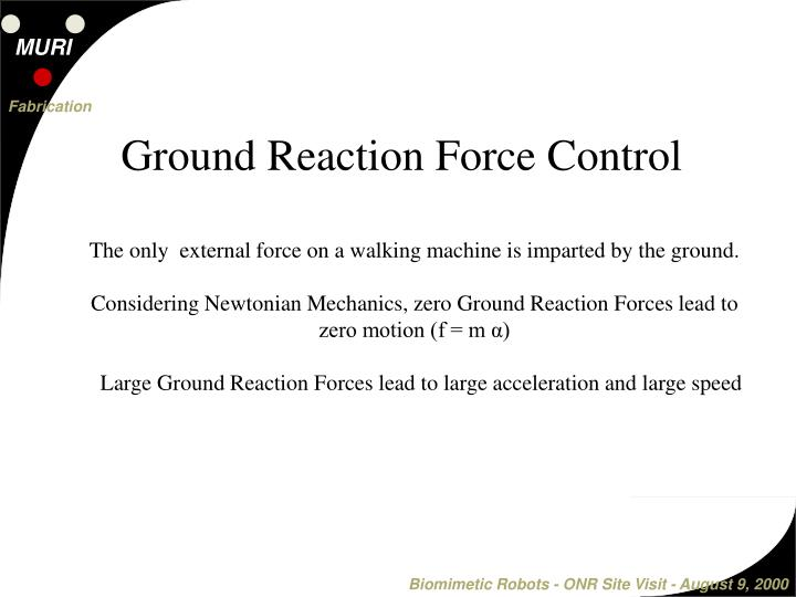 Ground Reaction Force Control