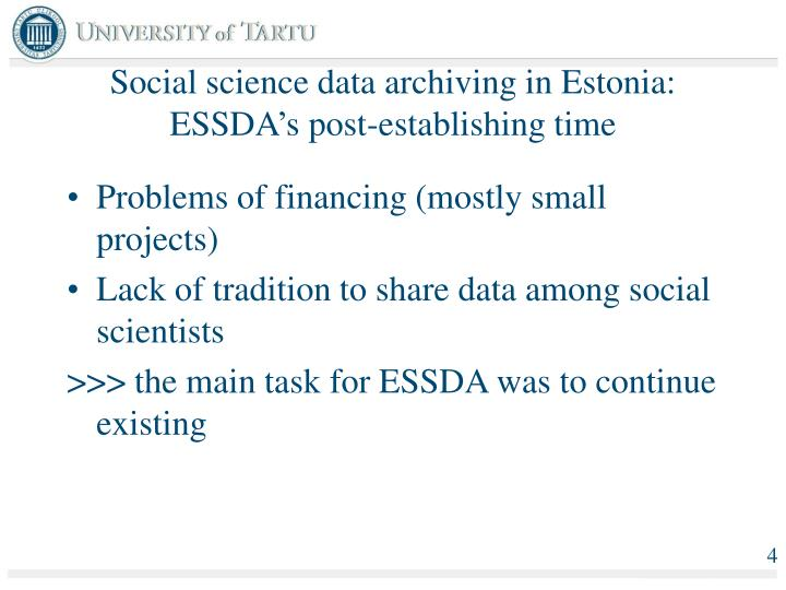 Technology Management Image: Social Science Data Archiving And Needs Of The