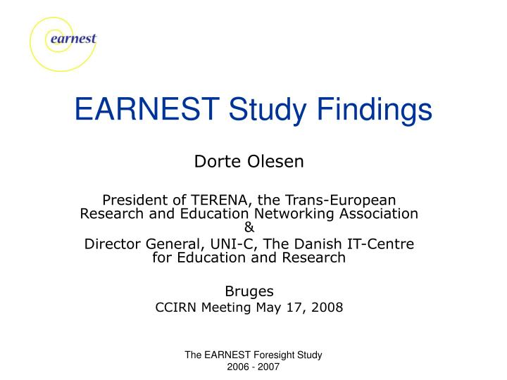 Earnest study findings