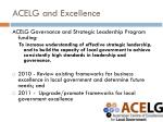 acelg and excellence