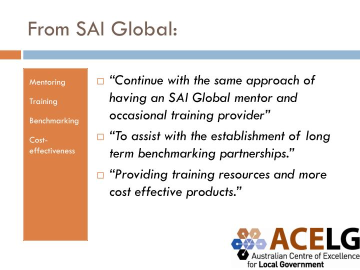 From SAI Global: