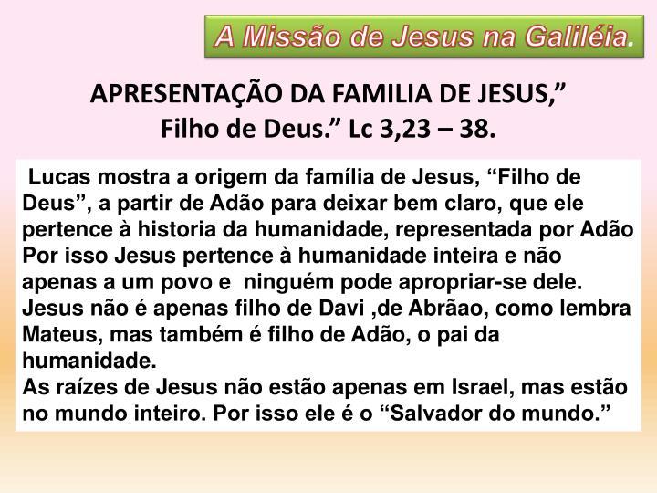 A Missão de Jesus na