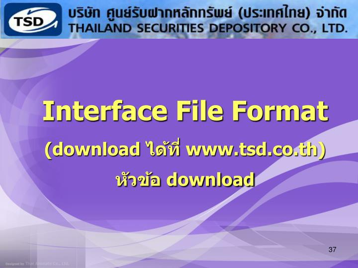 Interface File Format