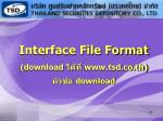 interface file format download www tsd co th download