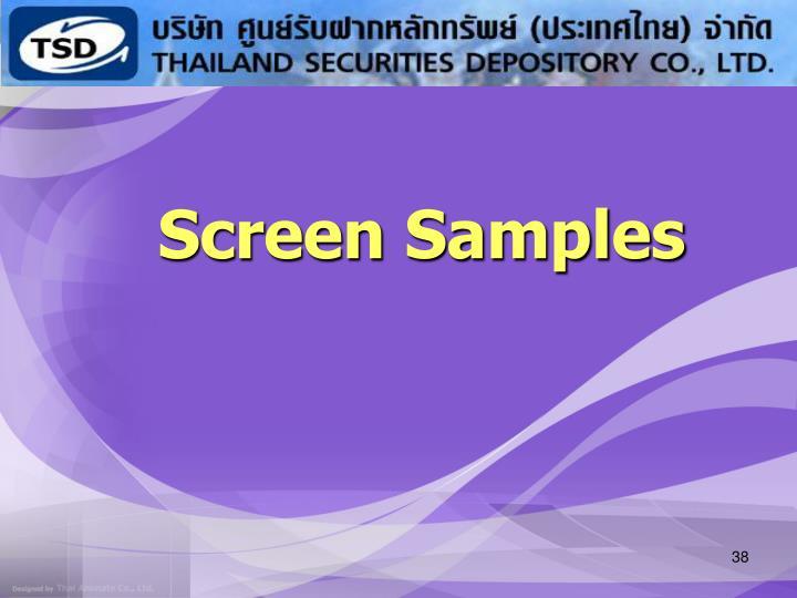 Screen Samples