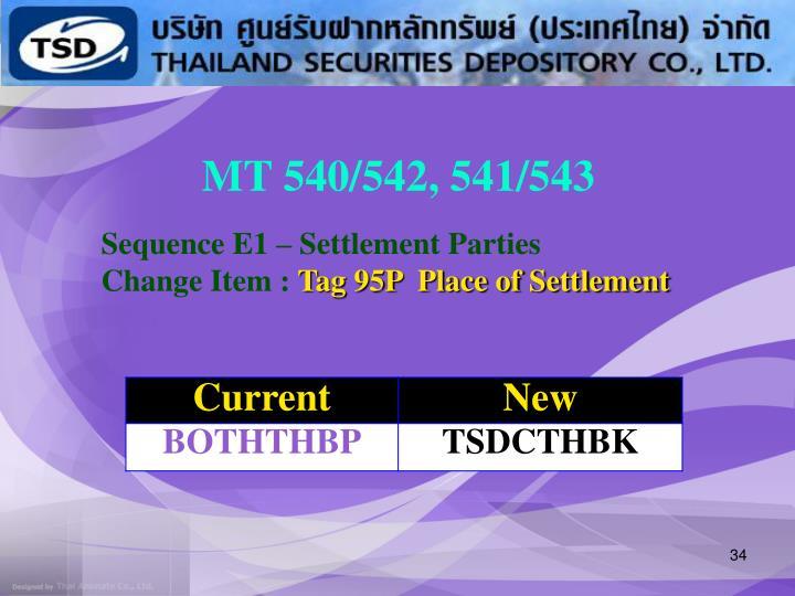 MT 540/542, 541/543