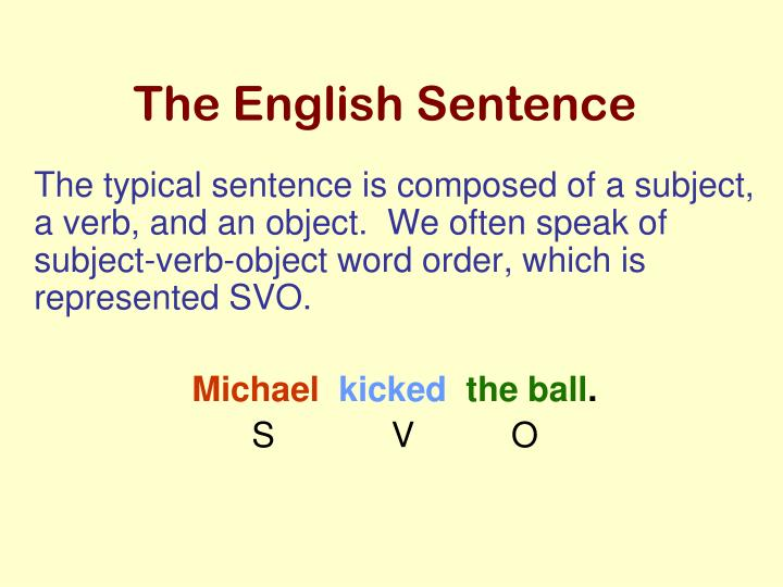 The English Sentence