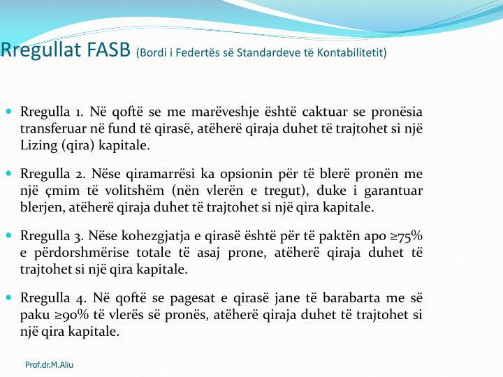 Rregullat FASB