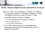 afcap review of maternal neo natal health transport2