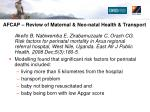 afcap review of maternal neo natal health transport3