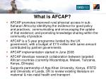 what is afcap