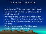 the modern technician