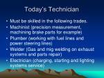 today s technician