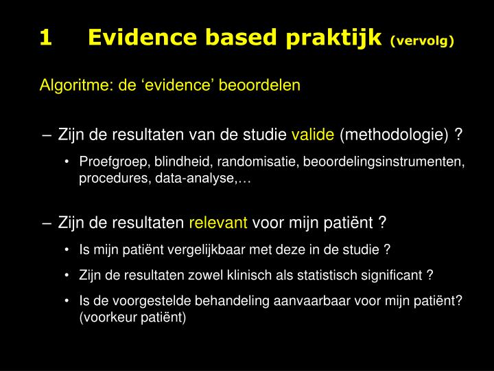 1Evidence based praktijk