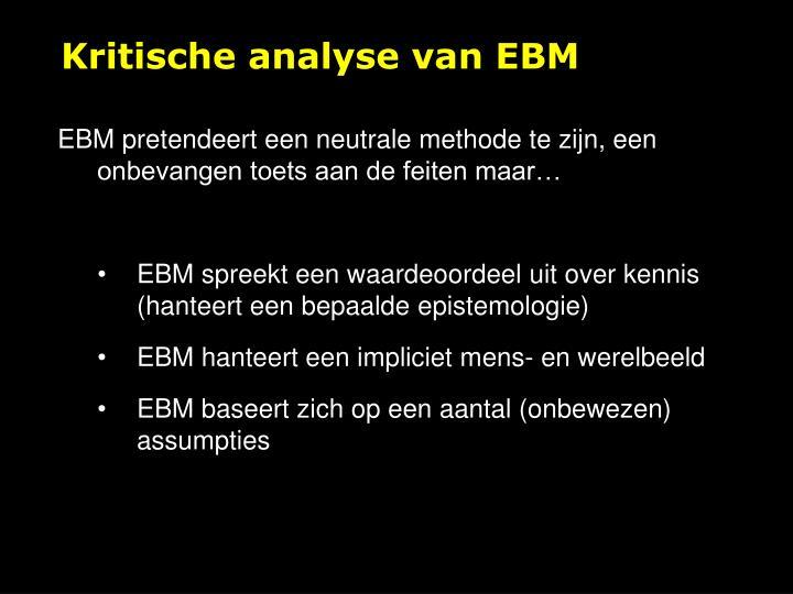 Kritische analyse van EBM