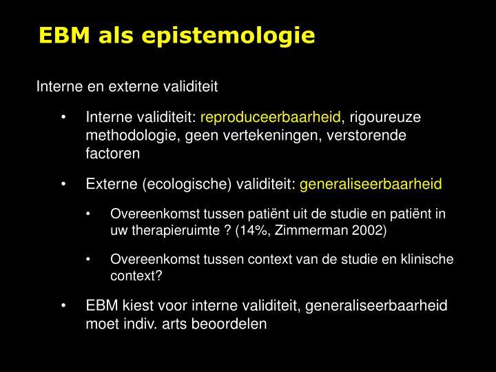 EBM als epistemologie