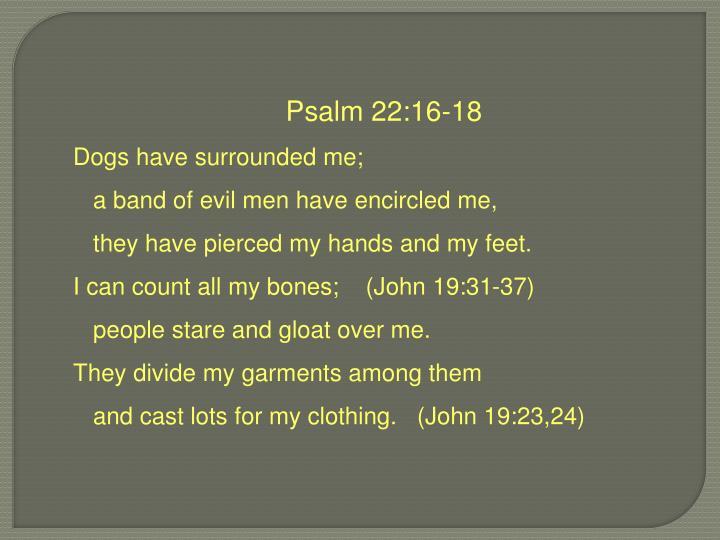 Psalm 22:16-18