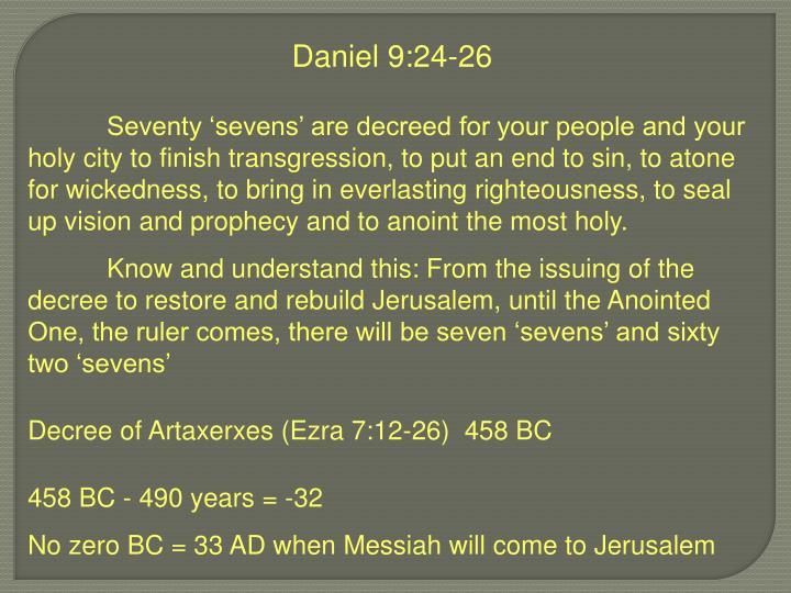 Daniel 9:24-26