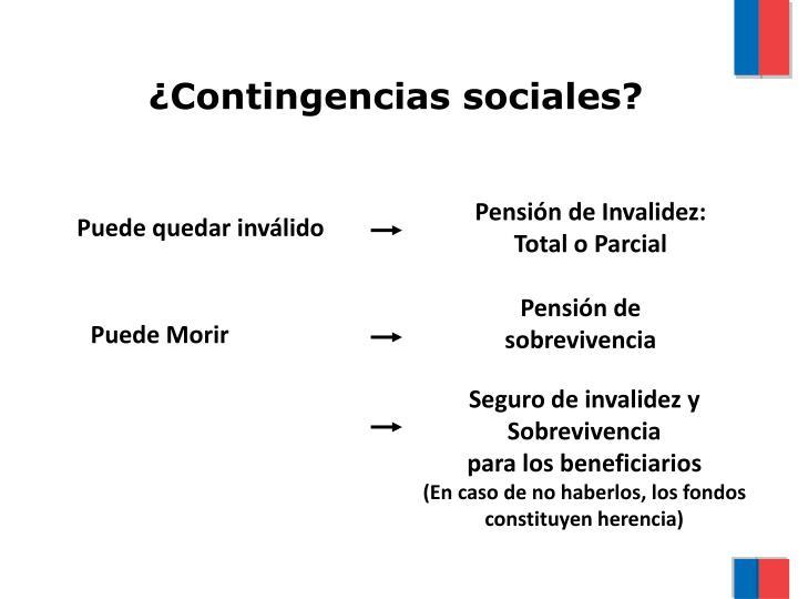 ¿Contingencias sociales?