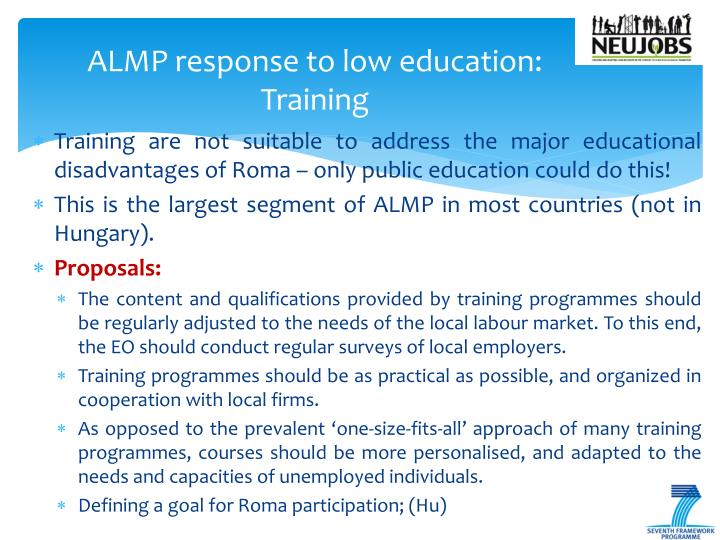 ALMP response to low education: